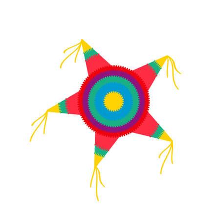 Illustration pour pinata star shape. Vector illustration isolated on white background - image libre de droit