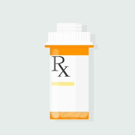 Illustration pour prescription bottle vector - image libre de droit