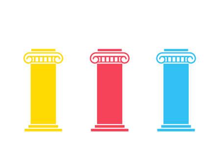 Illustration pour Three pillar diagram - image libre de droit