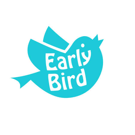 Illustration pour Early bird icon. Discount clipart isolated on white background - image libre de droit