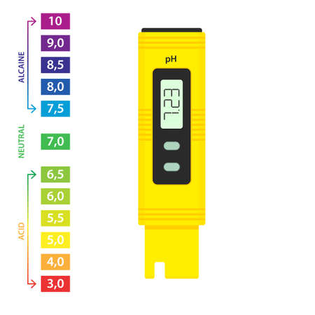 Illustration pour pH meter icon. Testing clipart isolated on white background - image libre de droit