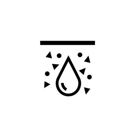 Illustration for Soil moisture black icon. Clipart image isolated on white background - Royalty Free Image