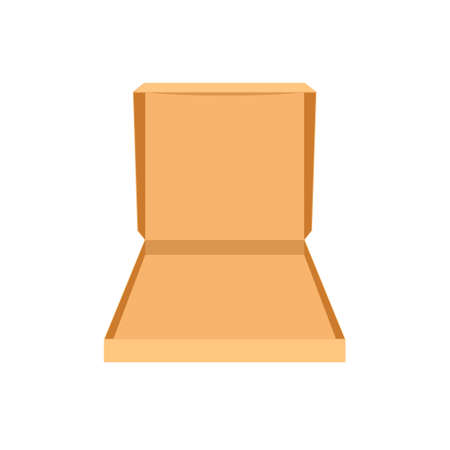 Illustration pour Open empty pizza box icon. Clipart image isolated on white background - image libre de droit