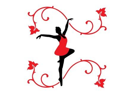 Illustration of a ballet dancer.