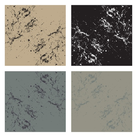 A set or collection of four matching abstract backgrounds in different color tones.