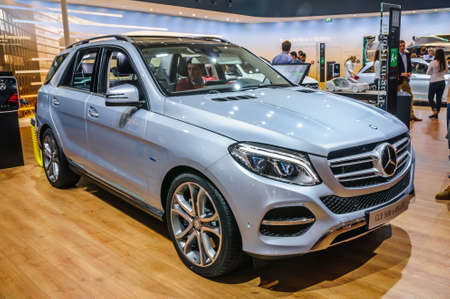 FRANKFURT - SEPT 2015: Mercedes-Benz GLE 500 e 4MATIC presented at IAA International Motor Show on September 20, 2015 in Frankfurt, Germany