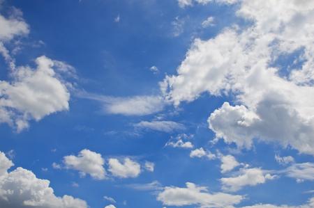 White cloud like dragon on blue sky as a background.