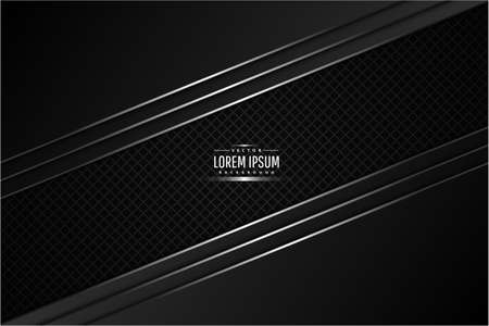 Illustration pour Metallic background.Black and silver with carbon fiber.Glow line metal technology concept. - image libre de droit