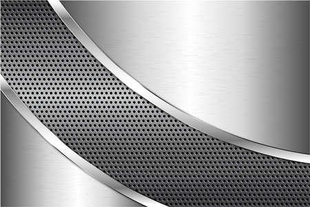 Photo pour Metallic background.Gray and silver with carbon fiber texture.Metal technology concept. - image libre de droit