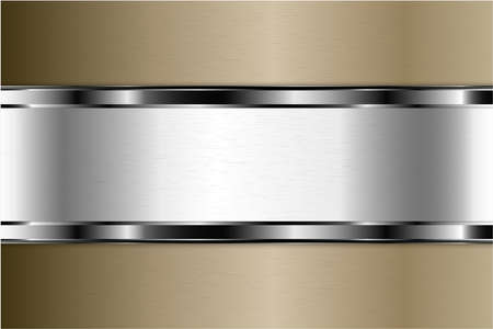 Illustration pour Metallic background. Luxury of gray and brown with silver glossy. Elegant metal modern design. - image libre de droit