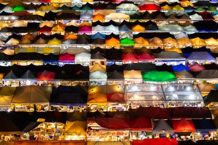 BANGKOK, THAILAND - October 14 2015: Train Night Market Ratchada, shopping in bangkok thailand.