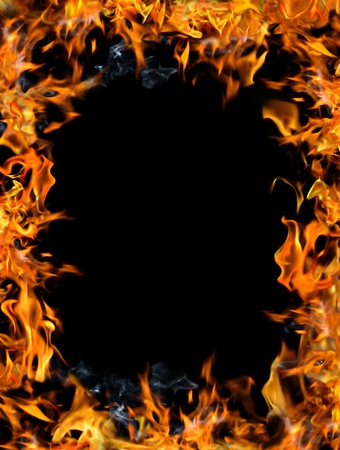 Bonfire frame on a black background