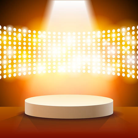 Stage Lighting Background with Spot Light Effects - vector illustration