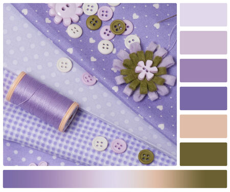 Tailoring Hobby Accessories. Sewing Craft Kit. Palette With Complimentary Colour Swatches