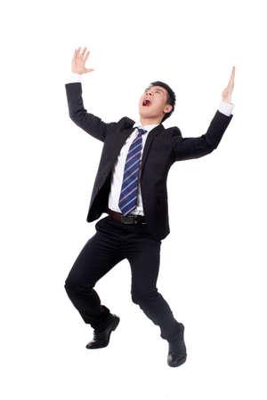 Photo pour Businessman cheering - image libre de droit