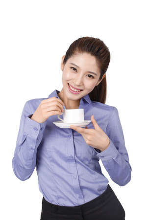 Foto de Businesswoman holding coffee cup - Imagen libre de derechos