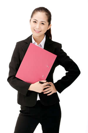 Photo for Business woman with folder - Royalty Free Image