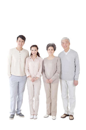 Photo pour A happy family of four members - image libre de droit