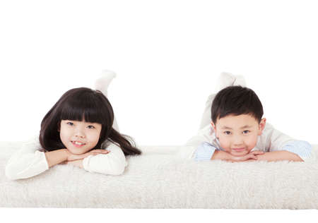 Photo for Brother and sister from a oriental family - Royalty Free Image