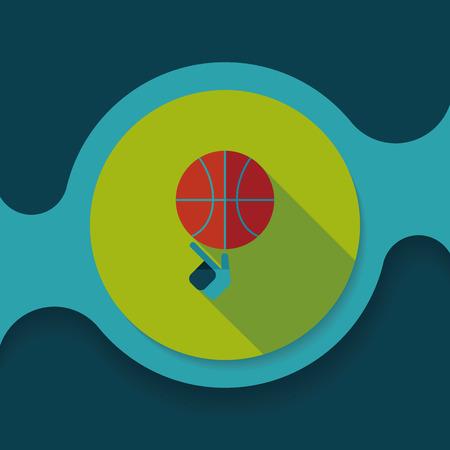 Ilustración de Basketball flat icon with long shadow - Imagen libre de derechos