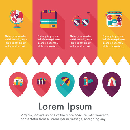 Travel and tourism icons set