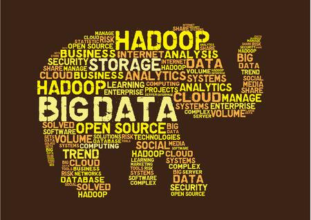 Illustration for Big data hadoop concept - Royalty Free Image