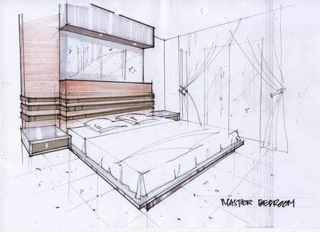 3D Illustration for a Master Bedroom