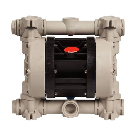Photo pour Industrial double diaphragm pump isolated on white background - image libre de droit