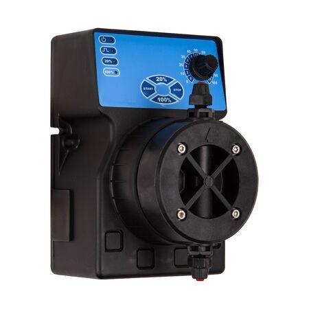 Photo pour AC black plastic diaphragm pump isolated on white background - image libre de droit