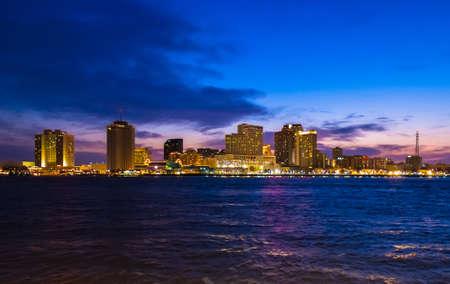 New Orleans Dusk Skyline