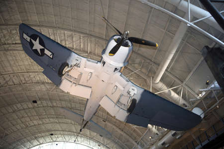 CHANTILLY, VIRGINIA - AUGUST 15: Photo of the Vought F4U-1D Corsair at the National Air and Space Museum's Steven F. Udvar-Hazy Center.   Taken August 2007 in Chantilly, Virginia.