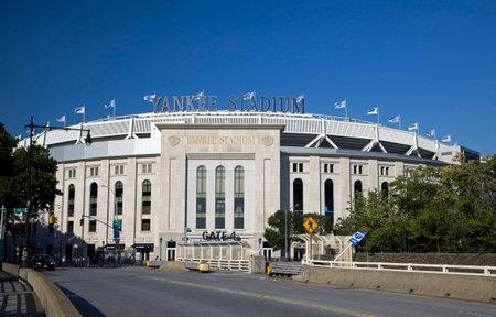 Photo pour BRONX, NEW YORK/USA - July 4, 2019: View of Gate entrance to Yanke Stadium baseball field. - image libre de droit