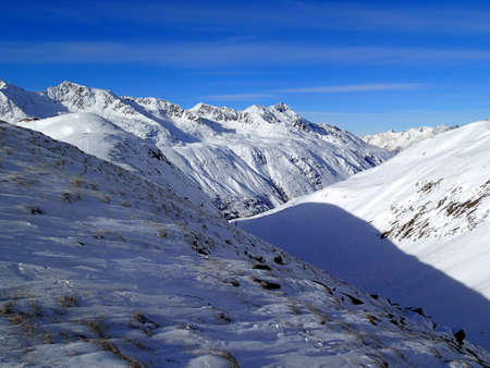 magical winter landscape in the Alps - Hochgurgl - Austria