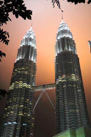 Petronas twin towers at night - Kuala Lumpur Malaysia Asia
