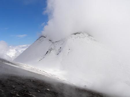 Etna volcano in winter