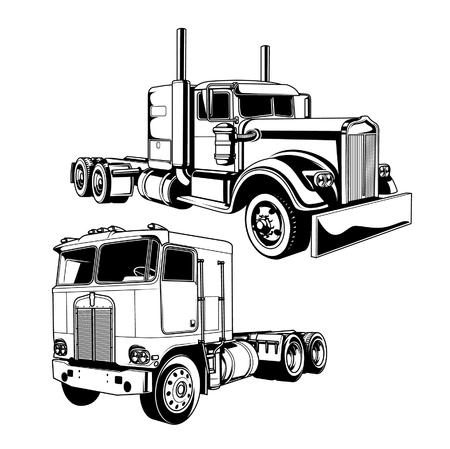 Foto de Vector illustration of trucks - Imagen libre de derechos