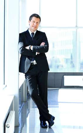 Photo pour Portrait of a handsome business man - image libre de droit