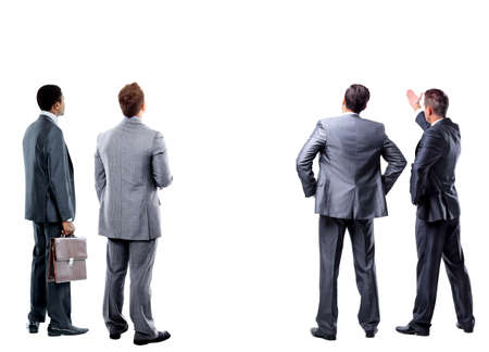 Foto per four business mans from the back - Immagine Royalty Free