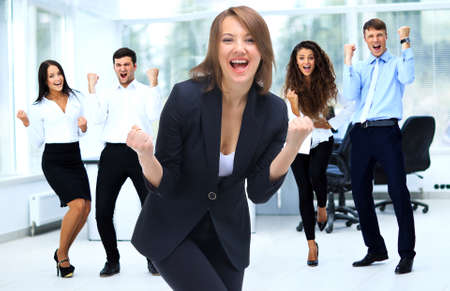 Photo for Happy Successful Business team at modern office - Royalty Free Image
