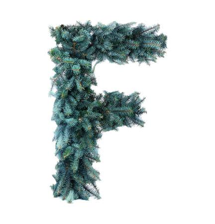 Christmas Alphabet isolated on white