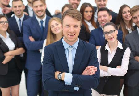 Photo pour Global business, management , connection and people concept. Business team - image libre de droit
