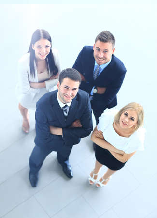 Foto per Top view of business people - Immagine Royalty Free