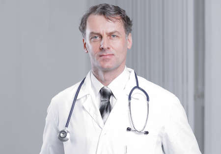 Photo for confident adult doctor looking at the camera. - Royalty Free Image