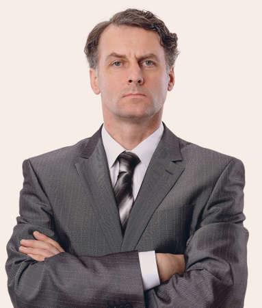 closeup portrait of handsome businessman.