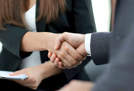 Photo for Business handshake ,congratulations or Partnership concept. - Royalty Free Image
