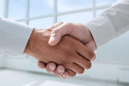Photo for close up.reliable handshake of business people. - Royalty Free Image