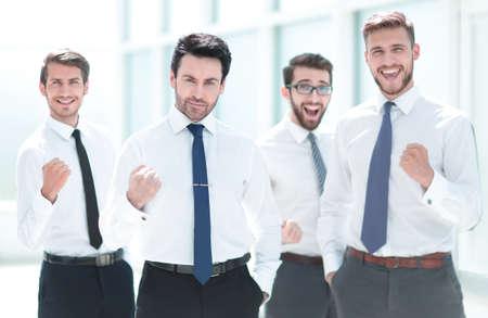 Foto für confident business team standing in the office. - Lizenzfreies Bild