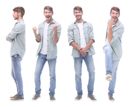 Photo pour collage doctor and young man isolated on white - image libre de droit