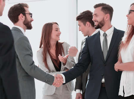 Photo for business meeting business partners in the office - Royalty Free Image