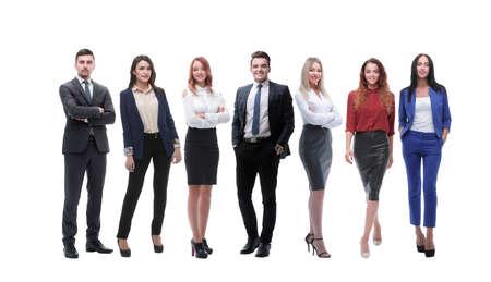 Photo pour group of young entrepreneurs standing in a row - image libre de droit